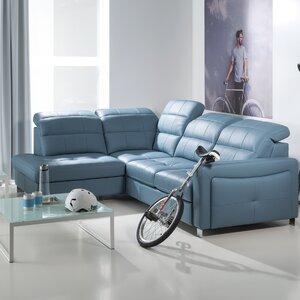 4-Sitzer Schlafsofa Mirto aus Leder von Home & H..