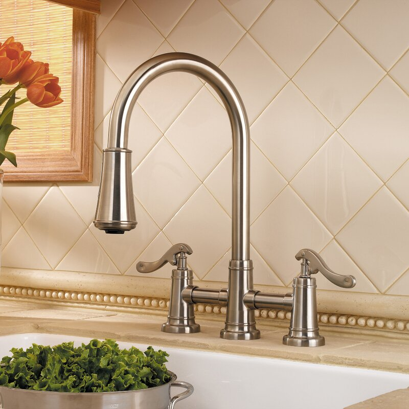 Pfister Ashfield Pull Down Double Handle Kitchen Faucet Wayfair