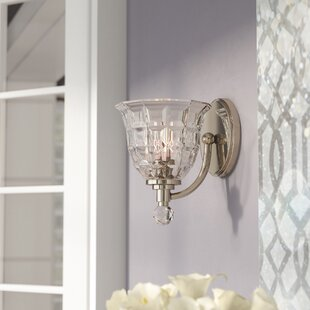 Glam sconces youll love wayfair eduard 1 light wall sconce aloadofball Image collections