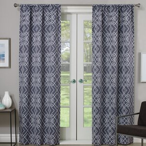 Amarillo Thermaweaveu00ae Geometric Room Darkening Rod Pocket Single Curtain Panel