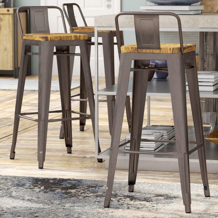 Terrific Trent Austin Design Ellery 30 Bar Stool Wayfair Squirreltailoven Fun Painted Chair Ideas Images Squirreltailovenorg