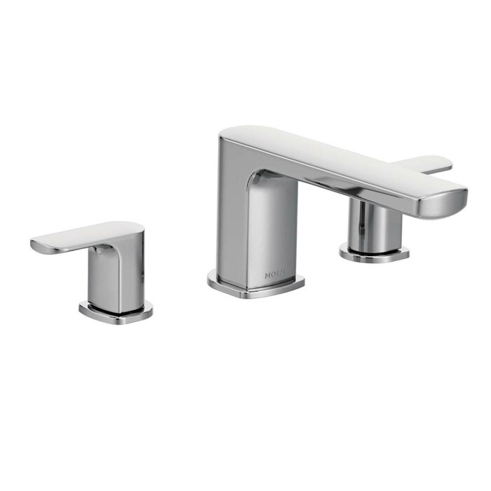 Moen Rizon Double Handle Deck Mount Tub Only Faucet Trim & Reviews ...