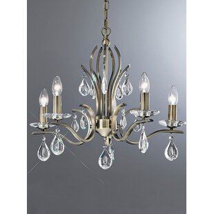 33a2ef111be Willow 5-Light Candle-Style Chandelier. by Franklite