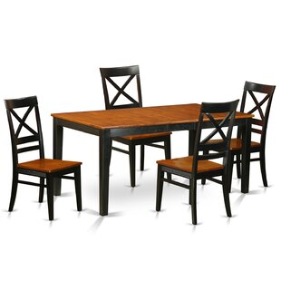 Cleobury Traditional 5 Piece Dining Set with Rectangular Table Top