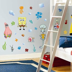 Favorite Characters 30 Piece Nickelodeon Sponge Bob Square Pants Wall Decal
