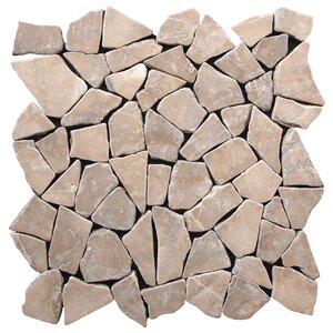 Fit Random Sized Natural Stone Pebble Tile in Tan