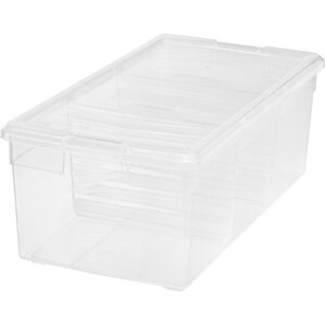 15 qt Plastic Storage Tote (Set of 6) by IRIS USA, Inc.