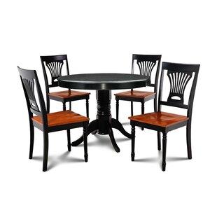 Horgan 5 Piece Solid Wood Dining Set