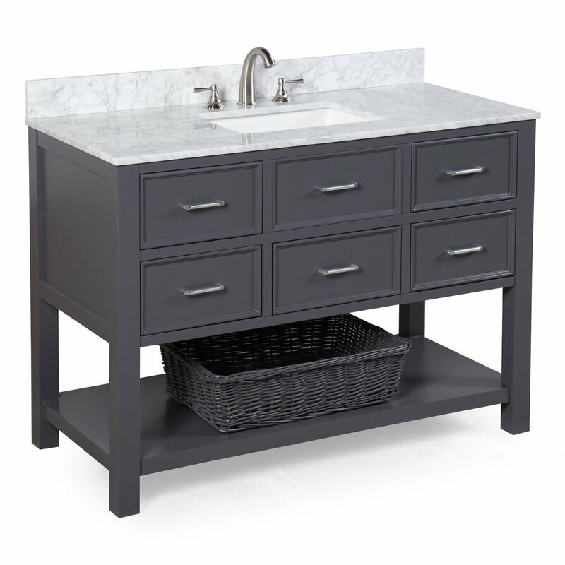 "Hampshire 48"" Single Sink Bathroom Vanity Set"