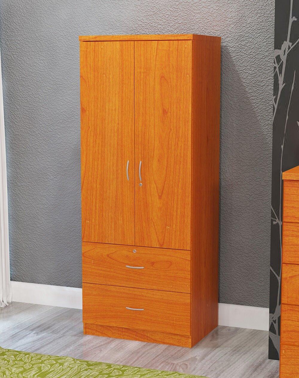 Winston Porter Pyle Maple 2 Door Armoire U0026 Reviews | Wayfair