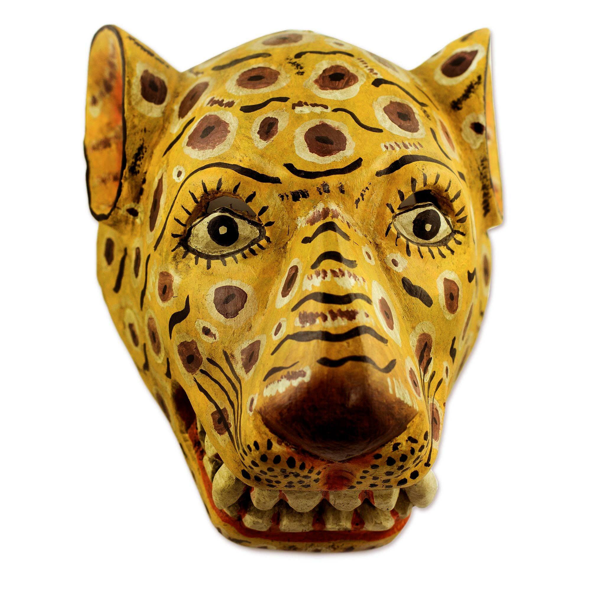 Novica Artisan Crafted Jaguar Mask Wall Décor | Wayfair.ca