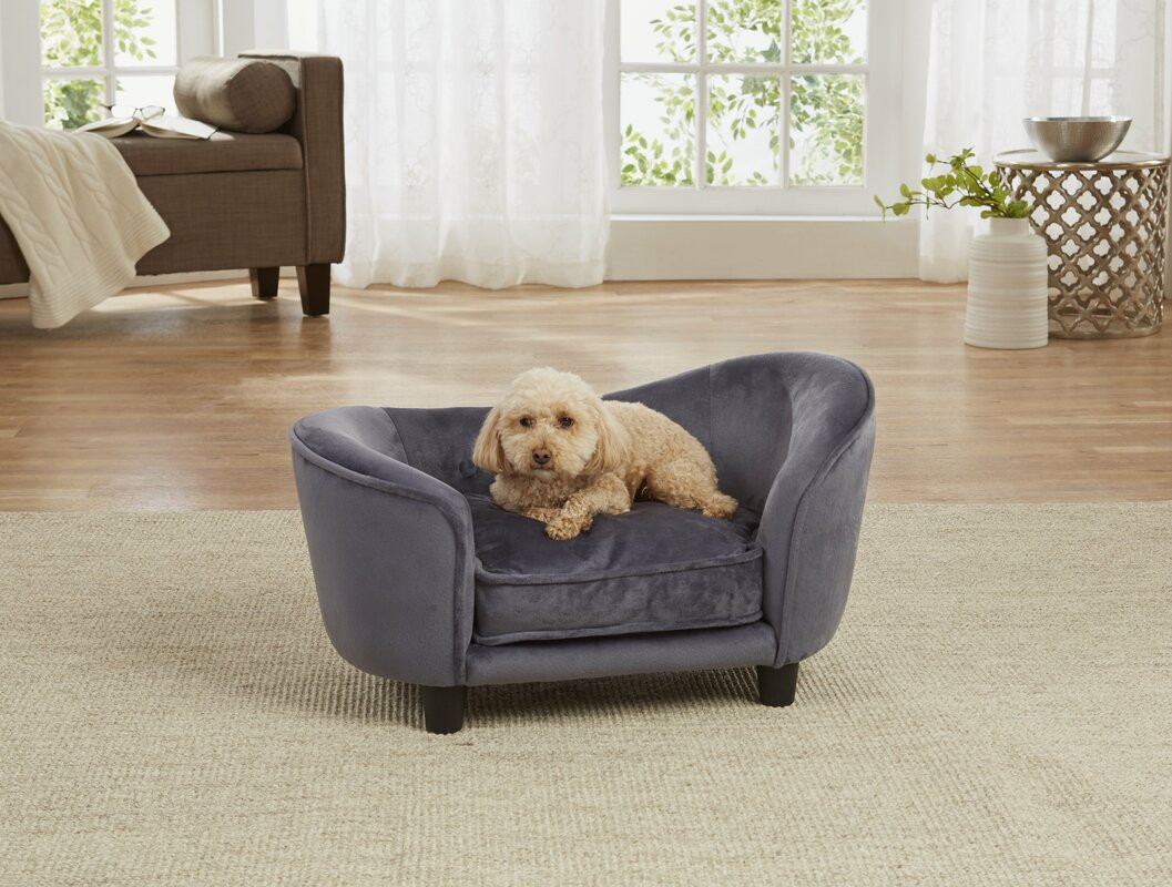 ultra plush snuggle dog sofa with cushion