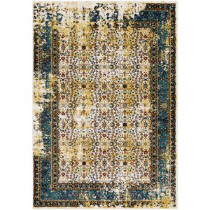 Deandra Yellow/Blue Area Rug
