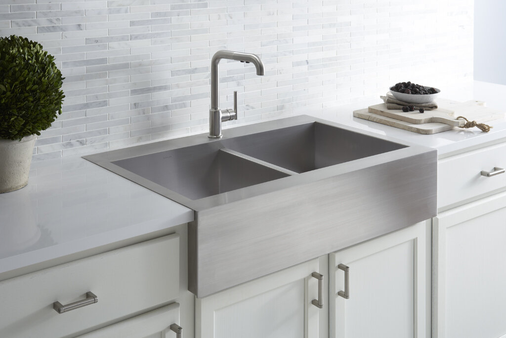 top mount farmhouse kitchen sink kohler vault 35 3 4 quot x 24 5 16 quot x 9 5 16 quot top mount 8553