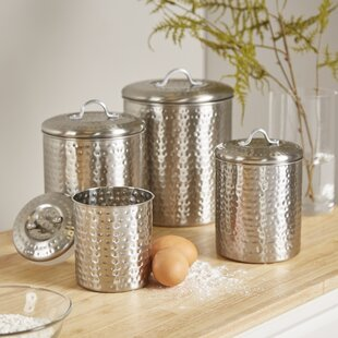 Cohagen 4 Piece Kitchen Canister Set