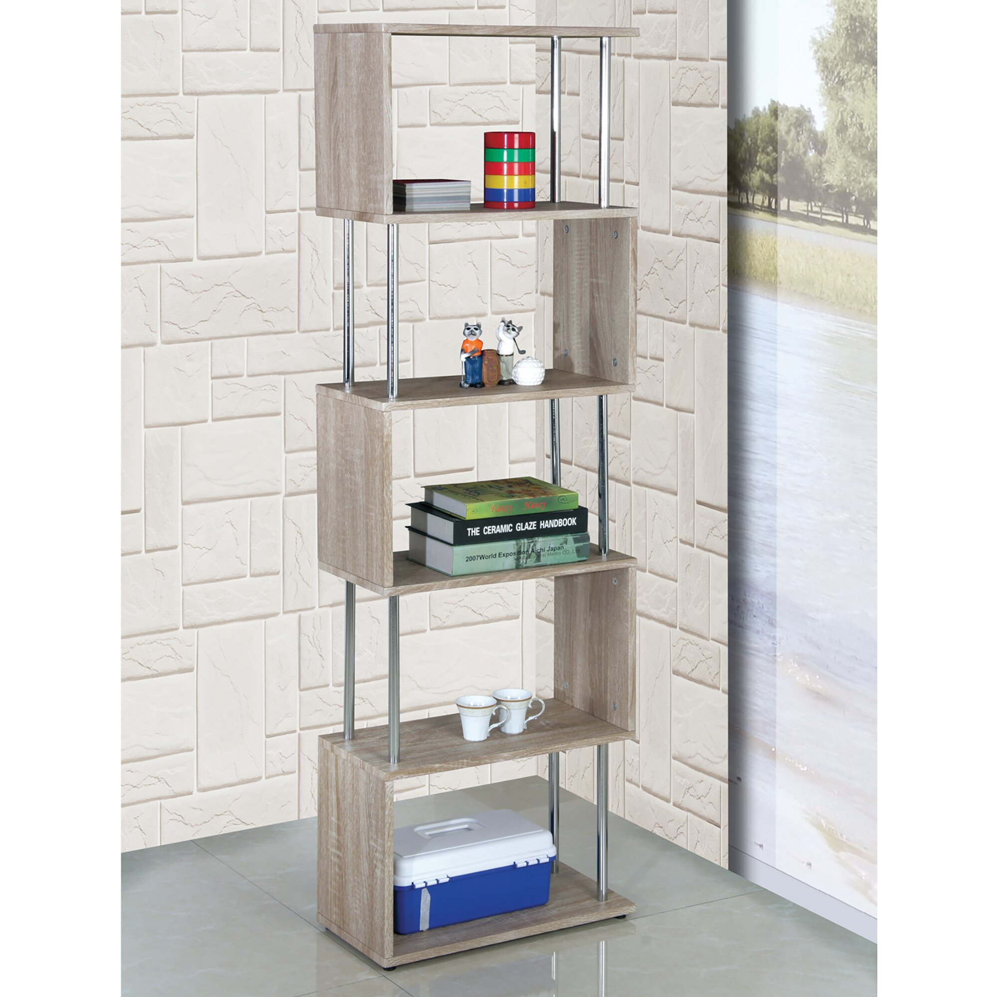 signature shelf bookcases number rustic design belfort item bookcase modern starmore by products shelves with industrial ashley