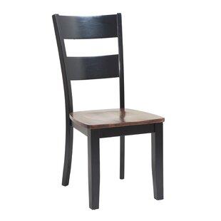 Jesenof Ladder Back Solid Wood Dining Chair