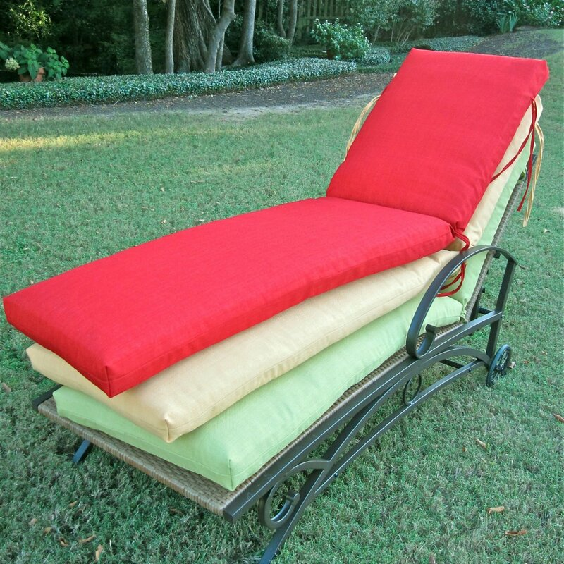 patio chaise lounge. Indoor/Outdoor Patio Chaise Lounge Cushion