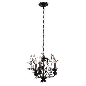 Ramsey 3-Light Crystal Chandelier