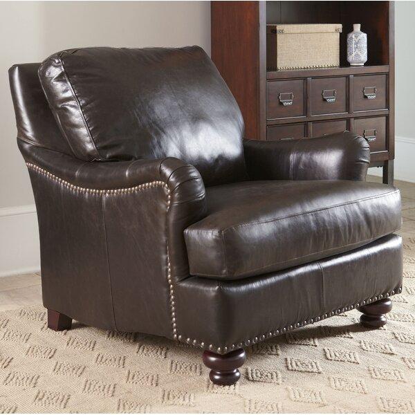Birch Lane™ Montgomery Leather Club Chair U0026 Reviews | Wayfair