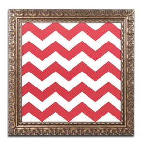 'Xmas chevron 8' by Color Bakery Framed Graphic Art