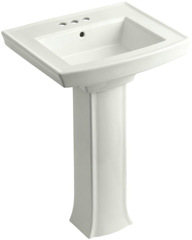 Bathroom Sinks Pedestal kohler archer pedestal bathroom sink & reviews | wayfair