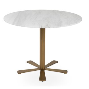 Daisy Brass Gold Marble Table
