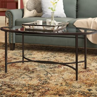 Sherrodsville Metal/Glass Coffee Table