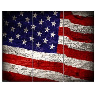 4a2b282615d  Large American Flag  3 Piece Wall Art on Wrapped Canvas Set