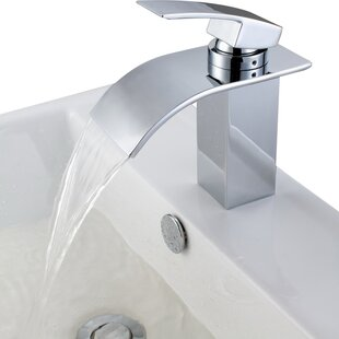 Gentil Deck Mount Waterfall Bathroom Sink Faucet With Hoses