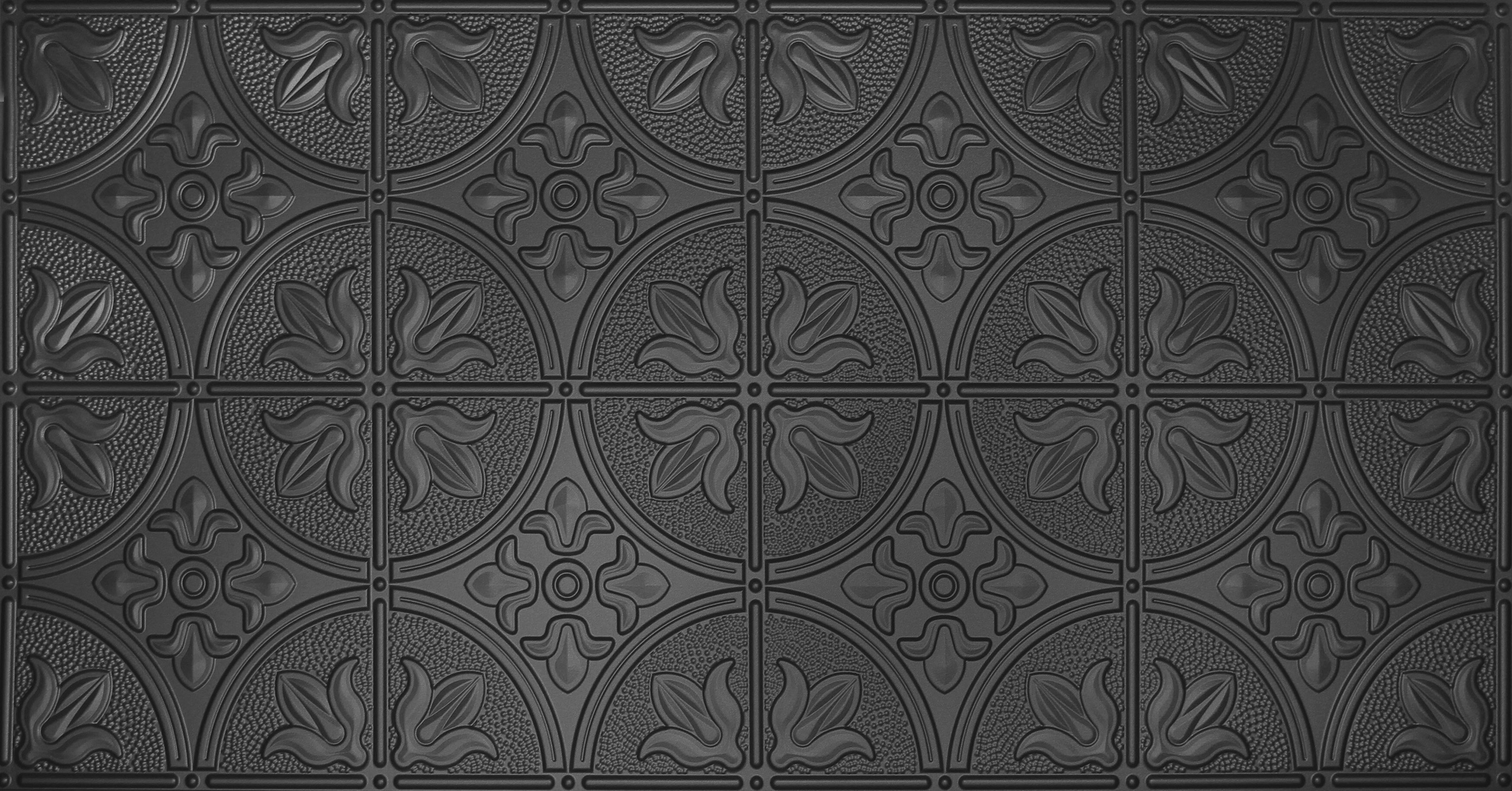 Global Specialty Products Glue Up Traditional 2 X 4 Tin Ceiling Tile In Black Wayfair
