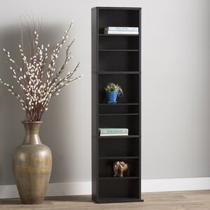 Andover Mills Traditional Wood Multimedia Storage Rack