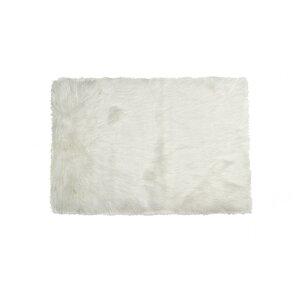 shawnta offwhite faux sheepskin area rug