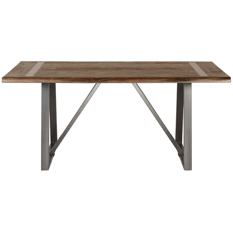 Malgorzata Industrial Live Edge Dining Table