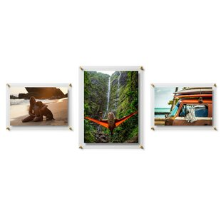 3 Piece Double Panel Float Picture Frame Set