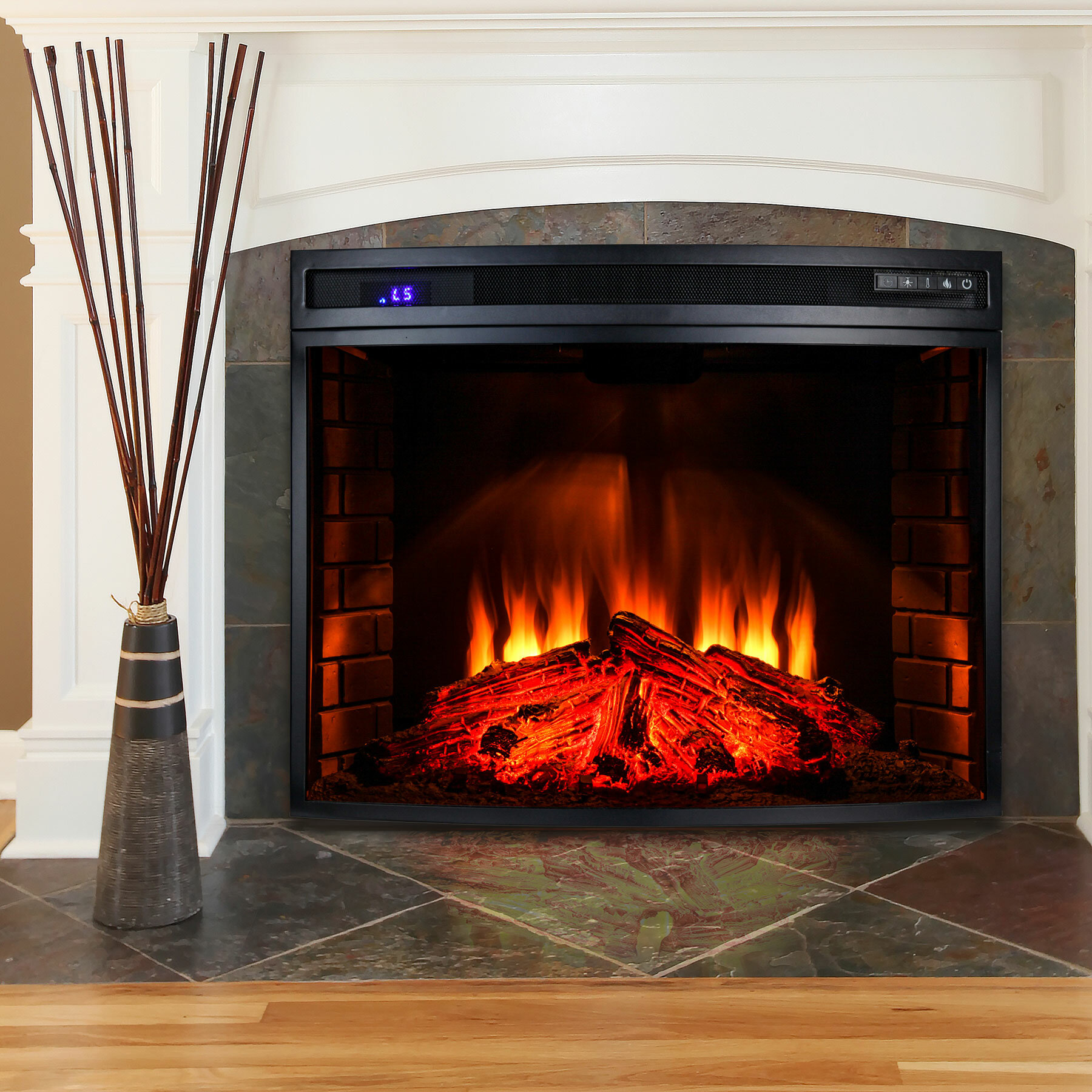 electric in dimplex master product insert hayneedle fireplace cfm led