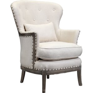 Shaliene Wing back Chair by One Allium Way