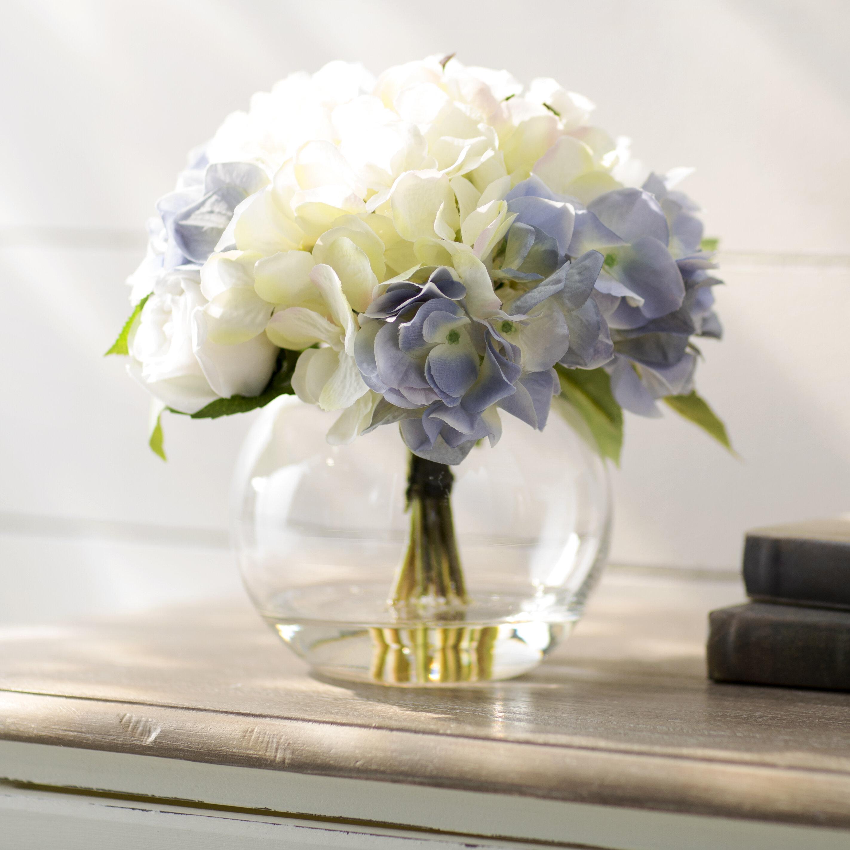 Faux rose hydrangea arrangement in glass bubble vase reviews faux rose hydrangea arrangement in glass bubble vase reviews joss main reviewsmspy