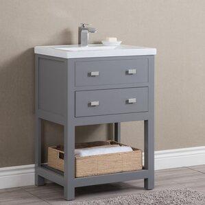 Roque Modern 24  Single Bathroom Vanity Set24 Inch Bathroom Vanities You ll Love   Wayfair. 24 In Vanity With Sink. Home Design Ideas