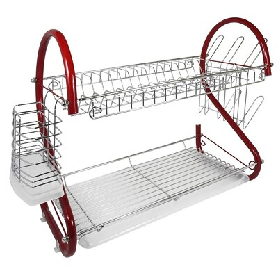 Dish Rack Better Chef Finish: Red