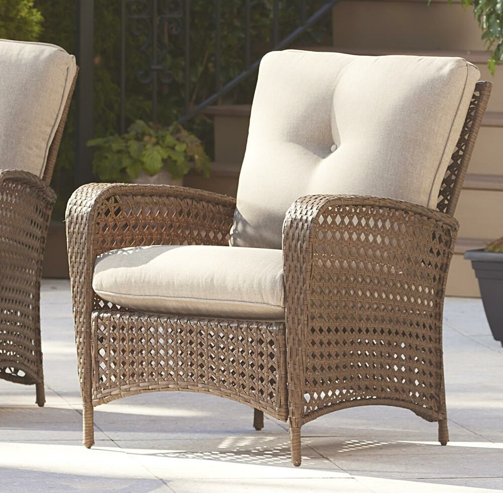 Highland dunes edwards patio chair with cushion reviews wayfair