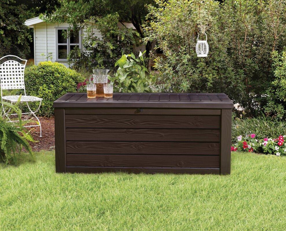 Keter Westwood 150 Gallon Resin Deck Box Amp Reviews Wayfair