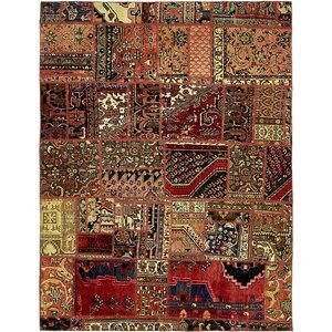 Sela Vintage Persian Hand Knotted 100% Wool Red/Beige Area Rug