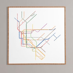 U0027Nyc Subway Mapu0027 Framed Wall Art