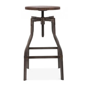 Machinist Adjustable Height Swivel Bar Stool by..