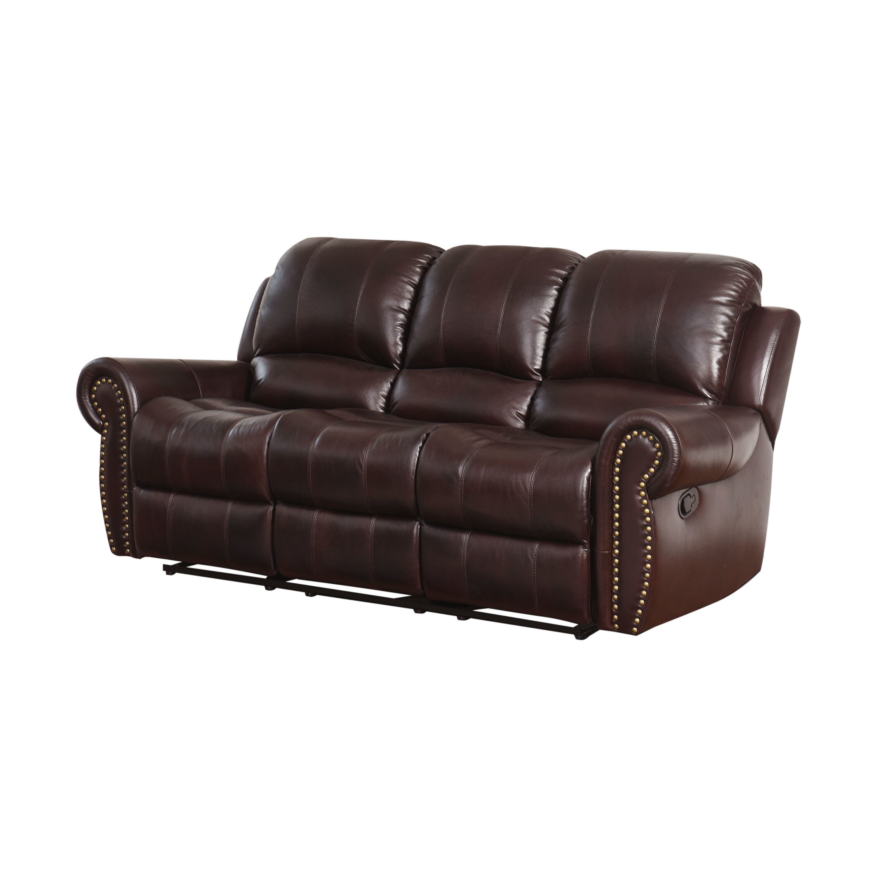 Darby Home Co Barnsdale Leather Reclining Sofa & Reviews | Wayfair