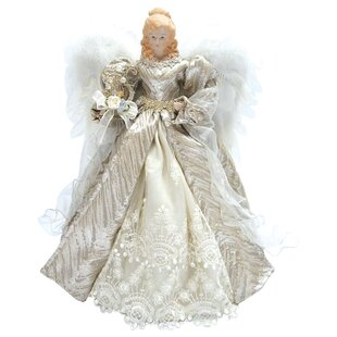 16 elegance angel tree topper - Christmas Angel Figurines