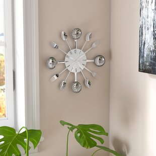Bradly 15 Round Metal Kitchen Wall Clock