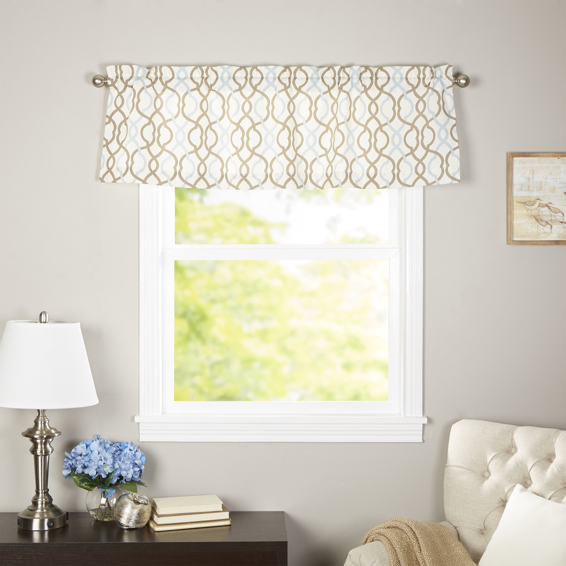Traditions By Waverly Make Waves Tailored 52 Curtain Valance Reviews Wayfair