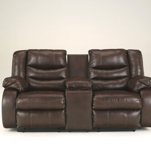 Summey Leather Reclining Sofa by Darby Home Co